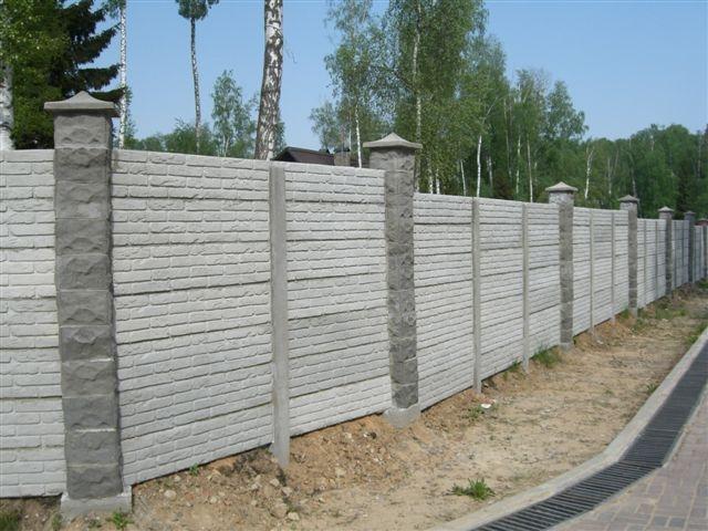Наборный железобетонный забор жби можайское шоссе